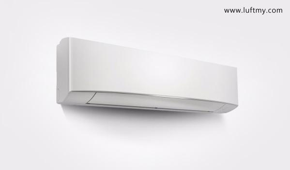 Air conditioning with built-in dust sensor